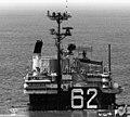 USS Independence (CVA-62), island and masts.jpg