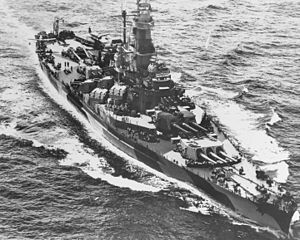USS Indiana (BB-58) - USS Indiana, early 1944 in the Pacific