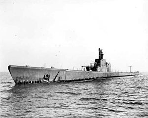 Redfin (SS-272), April 1943 on Lake Michigan.