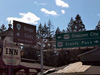 US 199 and Oregon Caves Highway Intersection.JPG
