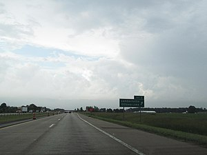 U.S. Route 23 in Michigan - Image: US 23 MI exit 3