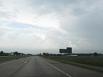 U.S. Route 23 in Michigan - Image: US 23 MI exit 3