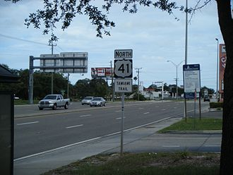 U.S. Route 41 in Florida - US 41 northbound past SR 72 in Gulf Gate Estates