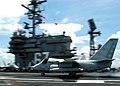 US Navy 040608-N-8704K-001 Commander, Kennedy Carrier Strike Group, Rear Adm. Donald Bullard lands an S-3 Viking.jpg
