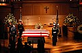 US Navy 061229-N-9909C-006 A Guard of Honor stands watch as former President Gerald R. Ford lies in repose at St. Margaret's Episcopal Church in Palm Desert, Calif., Dec. 29, 2006.jpg