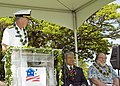 US Navy 070403-N-6674H-040 Commander, Navy Region Hawaii (CNRH), Rear Adm. T. G. Alexander speaks at a military housing groundbreaking ceremony on Ford Island.jpg