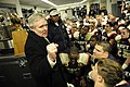 US Navy 091212-N-5549O-450 Secretary of the Navy (SECNAV) the Honorable Ray Mabus congratulates the U.S. Naval Academy football team after their victory over the U.S. Military Academy.jpg