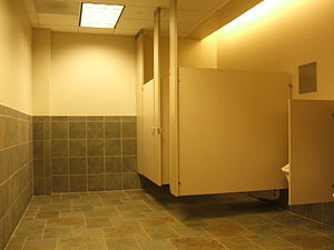 English: Typical Male Restroom in the U.S.