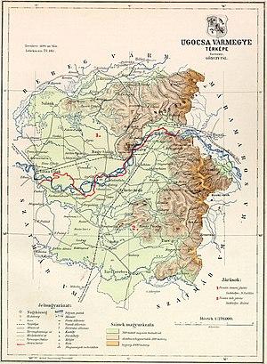 Ugocsa County - Map of Ugocsa county