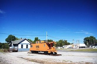 Ullin, Illinois - Ullin, with the ICR Depot on the left