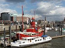 Hambourg-Port-Une vue du Port