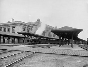 Union Station (Albany, New York) - Union Station in 1904
