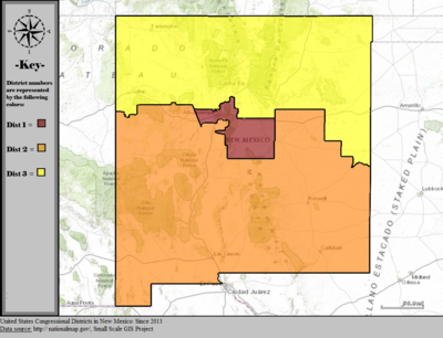 United States Congressional Districts in New Mexico, since 2013.tif