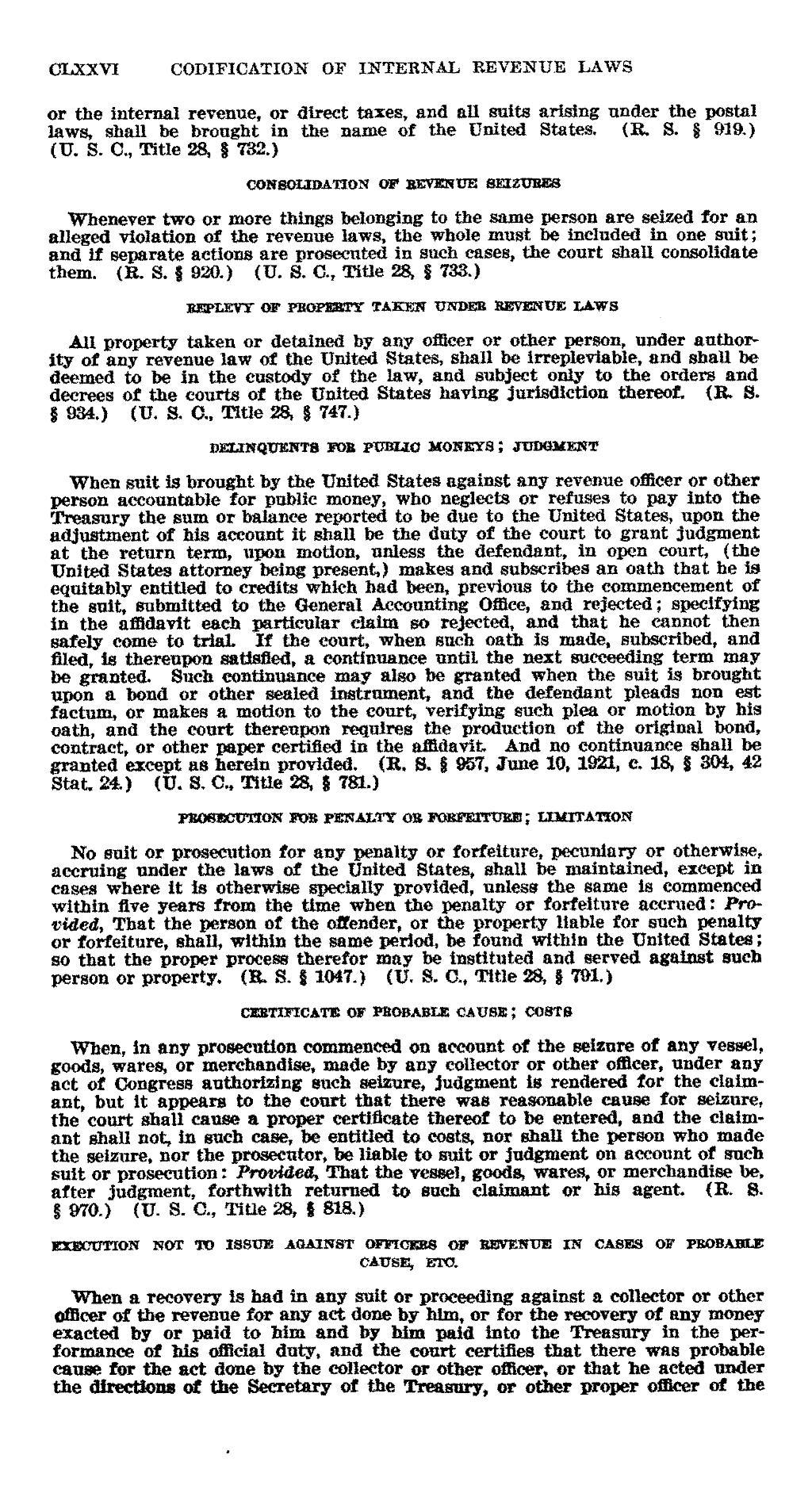 Consolidating codifying statutes of limitations