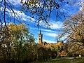 University of Glasgow tower, from Kelvingrove Park, 2.jpg