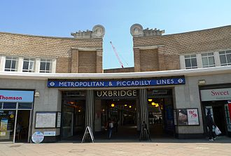 Uxbridge tube station - Main entrance