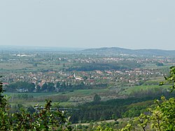 Vértesszőlős view from Turul.JPG