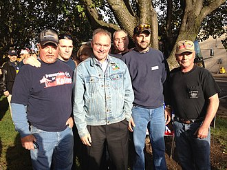 Tim Kaine - Tim Kaine and supporters, October 20, 2012