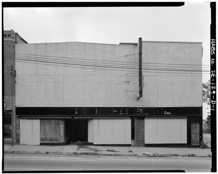 D Front Elevation Of Commercial Building : File view southeast showing northwest front elevation
