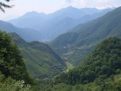 VM 5340 Muyu Tea plantations on valley slopes north of town.jpg