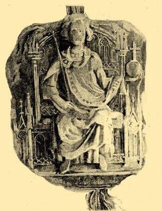 Wenceslaus III of Bohemia - Wenceslaus depicted on his royal seal