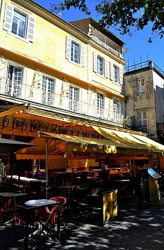 Café Terrace at Night - The café terrace, now 'Le Café La Nuit', at Place du Forum, Arles, July 2016