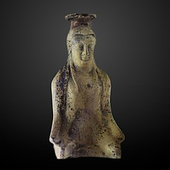 Vase shaped like a kneeled woman-AM 329