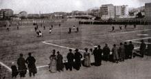 Un'immagine del primo campionato italiano, svoltosi in un'unica giornata a Torino l'8 maggio 1898.