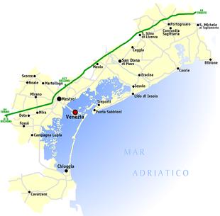 Cartina Di Venezia E Dintorni.Provincia Di Venezia Wikipedia