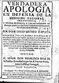 Verdadera apologia en defensa de la medicina racional philosophica 1691 Zapata.jpg