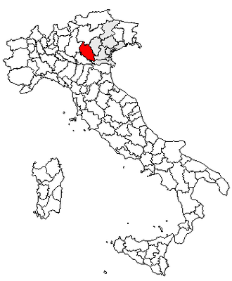 Rosegaferro - Location of the province of Verona
