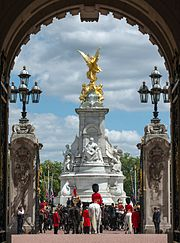 Victoria Memorial from within Buckingham Palace