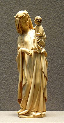 2e689a710e6ec A depiction of the Blessed Virgin Mary and the Child Jesus crafted in  elephant ivory