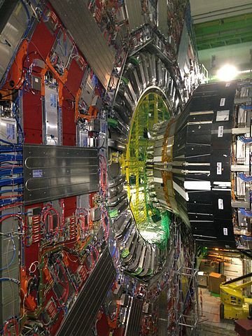View inside detector at the CMS cavern LHC CERN