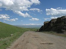 View of Aragats, Shirak Province, Village Hatsik.jpg
