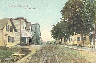 North Berwick, Maine - Image: View of Market Street, North Berwick, ME