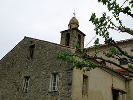 The bell tower of the church in Viggianello