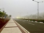 Vijayawada International Airport in fog (January 2019) 3.jpg