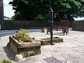 Village Pump, Water Trough, Flowers and Seat, Bolsterstone - geograph.org.uk - 1626095.jpg