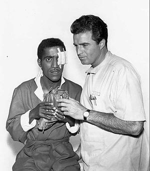 Vince Edwards - Vince Edwards as Ben Casey with guest star Sammy Davis, Jr. from the television program Ben Casey. (1963)