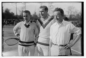 International Tennis Federation - Vincent Richards, Bill Tilden and Bill Johnston at the 1922 Davis Cup