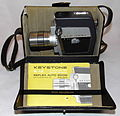 Vintage Keystone 8mm Reflex Auto Zoom Movie Camera, Model K-12, Made In USA, Circa 1963 (23381562294).jpg
