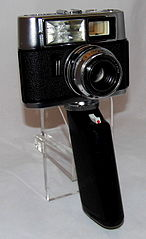 Vintage Voigtlander Vitrona 35mm Viewfinder Film Camera With Built-In Electronic Flash, May Be The First Camera Produced With A Built-In Electronic Flash, Made In West Germany, Introduced In 1964 (22777540084).jpg