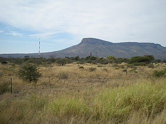 Soutpansberg - The western extremity of the Soutpansberg  – as seen from Vivo, 10 km from the salt pan