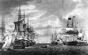 Vlieter Incident - Surrender of Samuel Story's Dutch Texel squadron to a British-Russian fleet under Andrew Mitchell, 30th of August 1799 in the Vlieter.