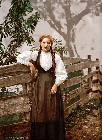 Voss - A girl of Voss, c. 1900