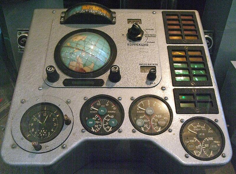 Parte del panel de instrumentos de la Vostok-1 de Yuri Gagarin