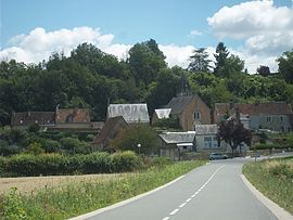 A general view of Vouvray-sur-Huisne
