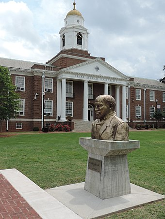 Bust of W. E. B. Du Bois at Atlanta Clark University WEB DuBois bust at Clark Atlanta University.jpg