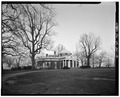 WEST FACADE, FROM THE NORTHWEST - Monticello, State Route 53 vicinity, Charlottesville, Charlottesville, VA HABS VA,2-CHAR.V,1-10.tif